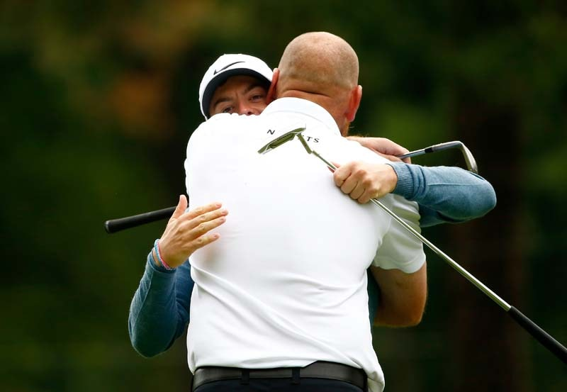 Thomas Bjorn and Rory McIlroy