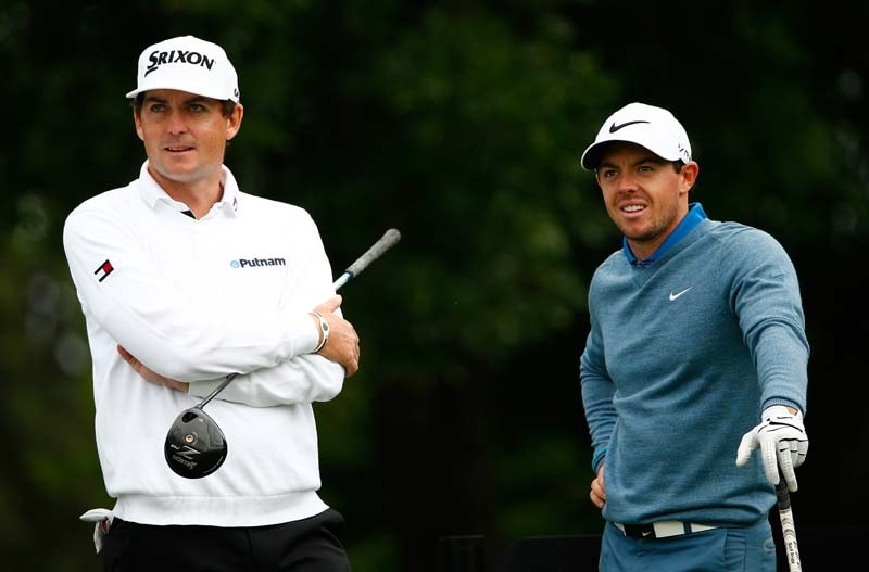 Keegan Bradley and Rory McIlroy