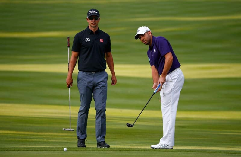 Adam Scott and Sergio Garcia