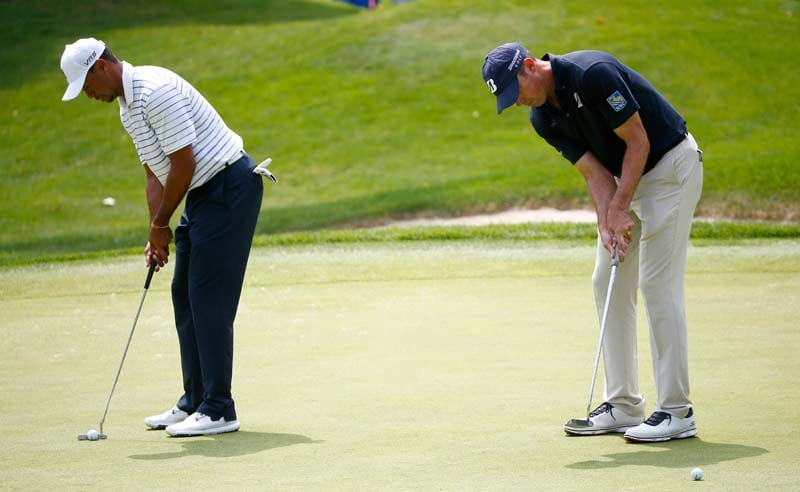 Tiger Woods and Matt Kuchar