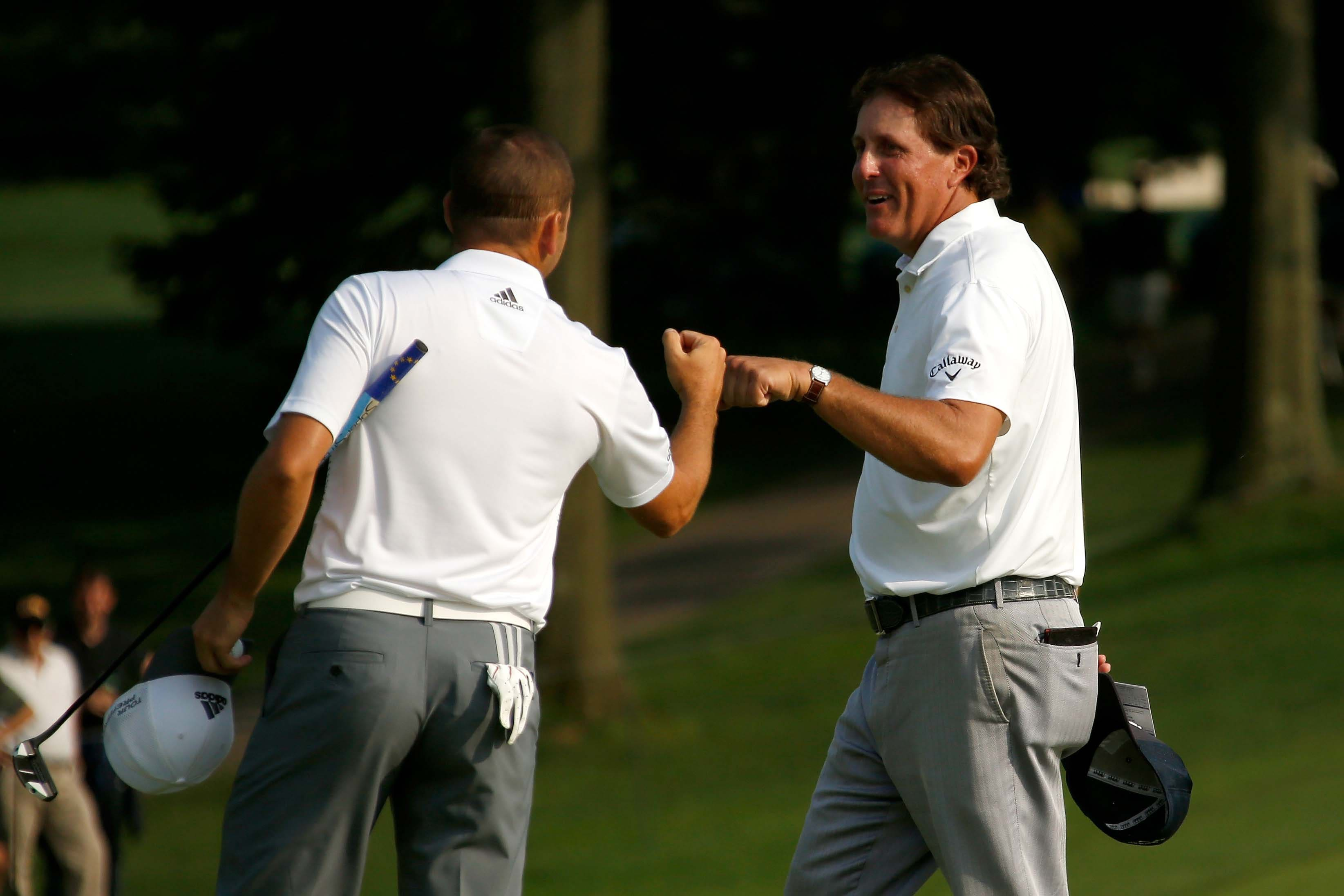 Sergio Garcia and Phil Mickelson