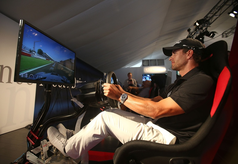 Working on his driving