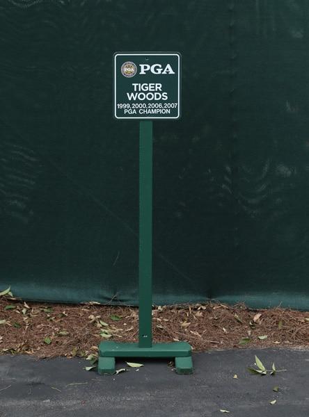 Tiger's parking spot