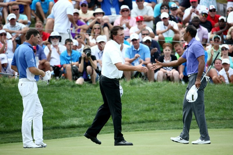 Padraig Harrington, Phil Mickelson, Tiger Woods