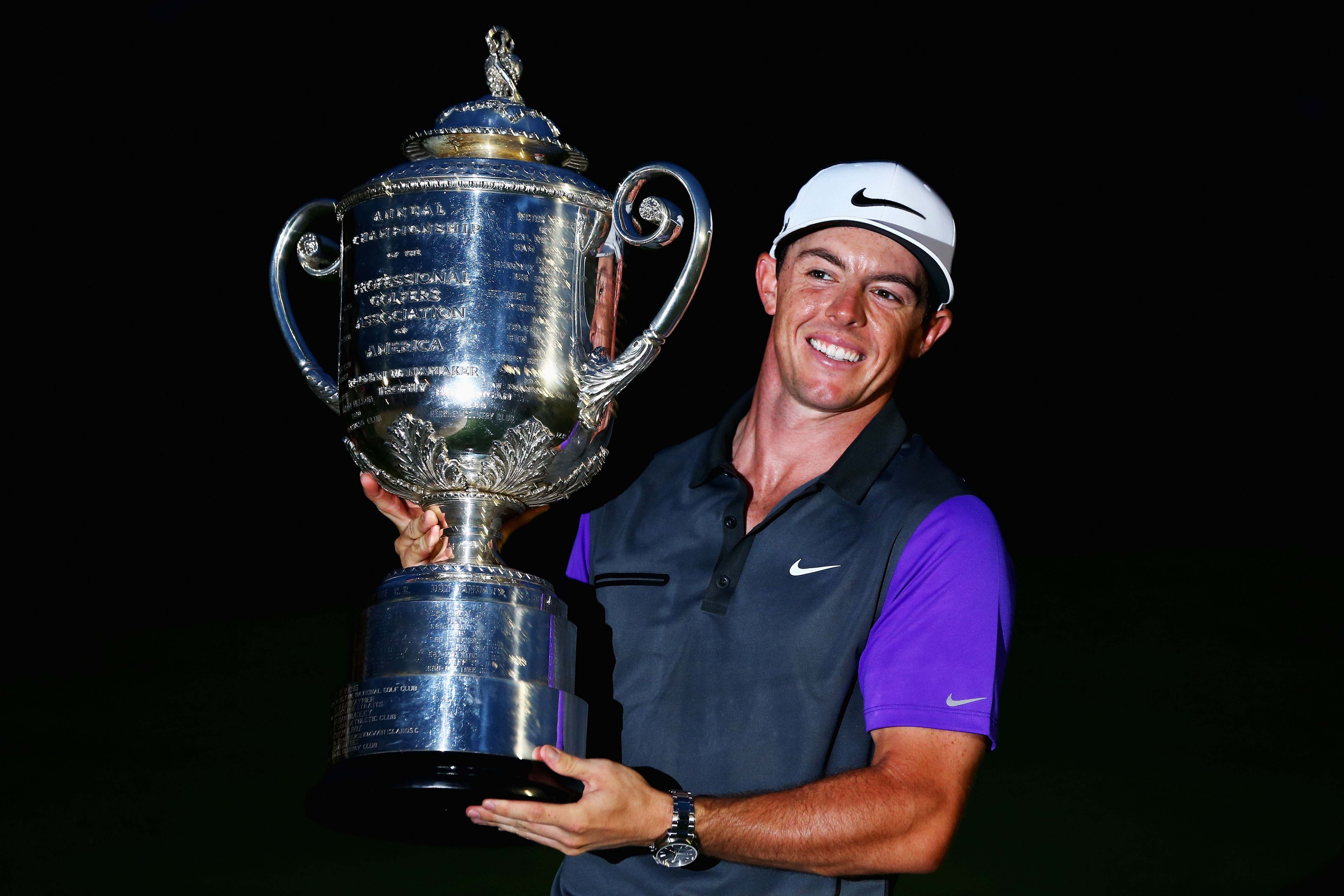 Rory McIlroy winning the PGA in the dark ... or
