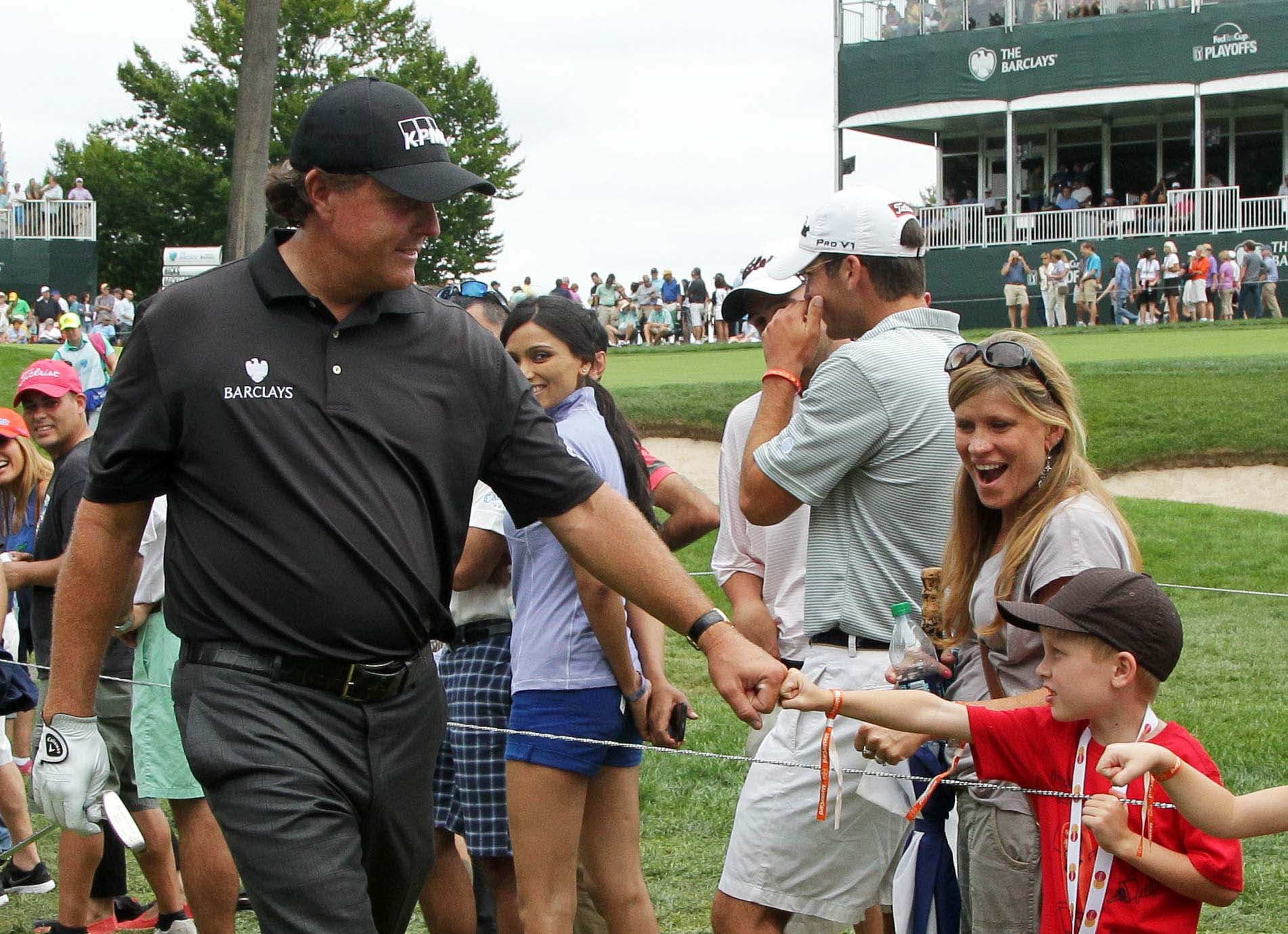 3. Phil plays from hospitality area on consecutive days at Barclays