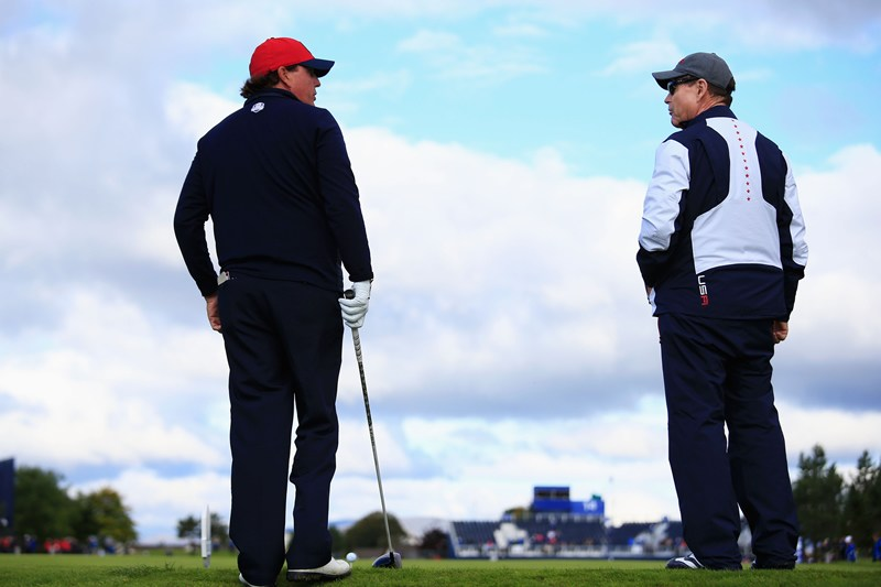 Phil Mickelson, Tom Watson