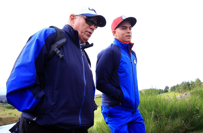 Butch Harmon and Rickie Fowler
