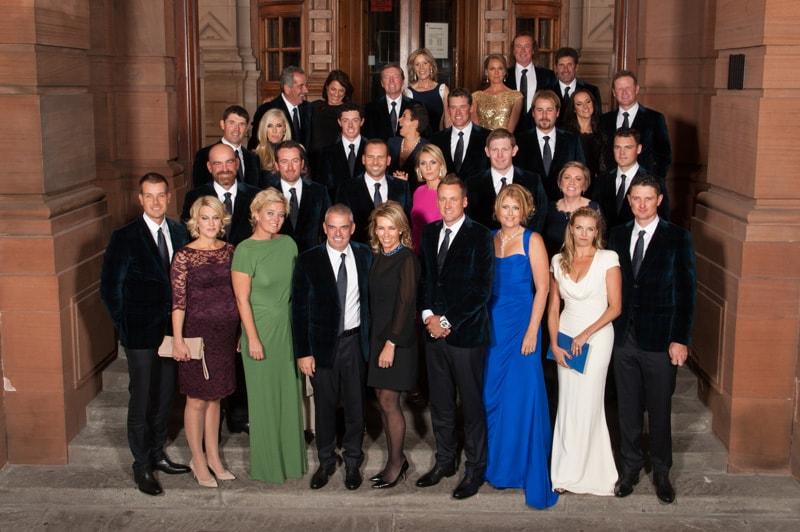 European team and WAGs