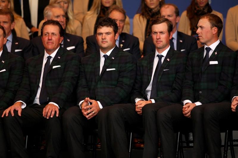 Phil Mickelson, Patrick Reed, Webb Simpson and Jordan Spieth