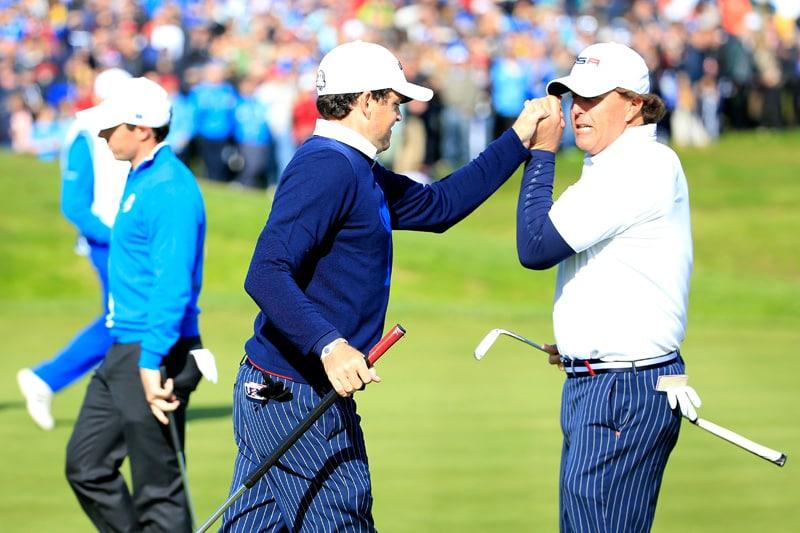 Keegan Bradley and Phil Mickelson