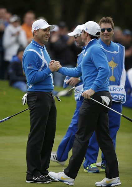 Sergio Garcia and Rory McIlroy
