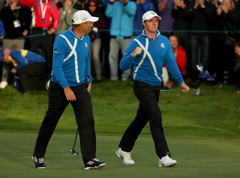 Rory McIlroy and Sergio Garcia
