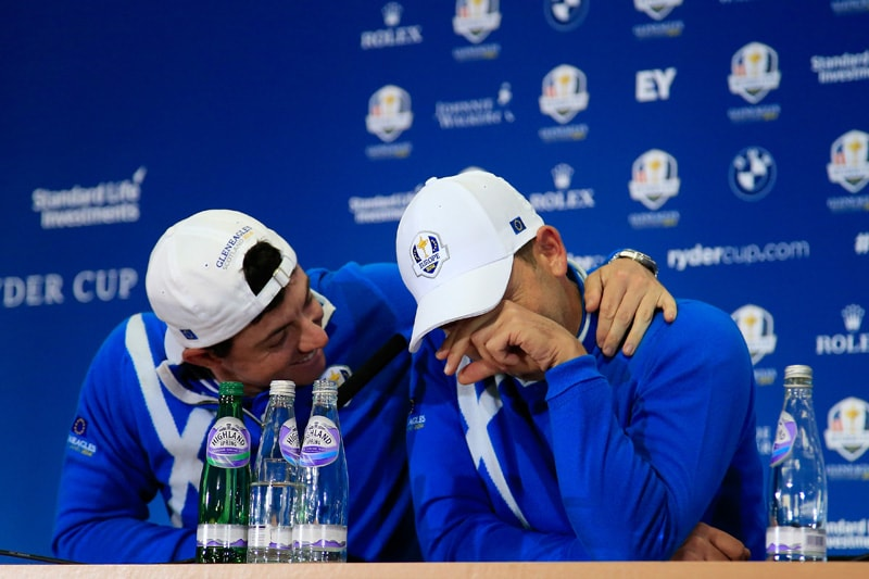 Rory McIlroy and Sergio Garcia