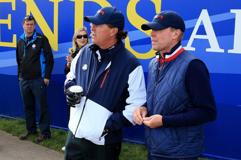 Phil Mickelson and Steve Stricker