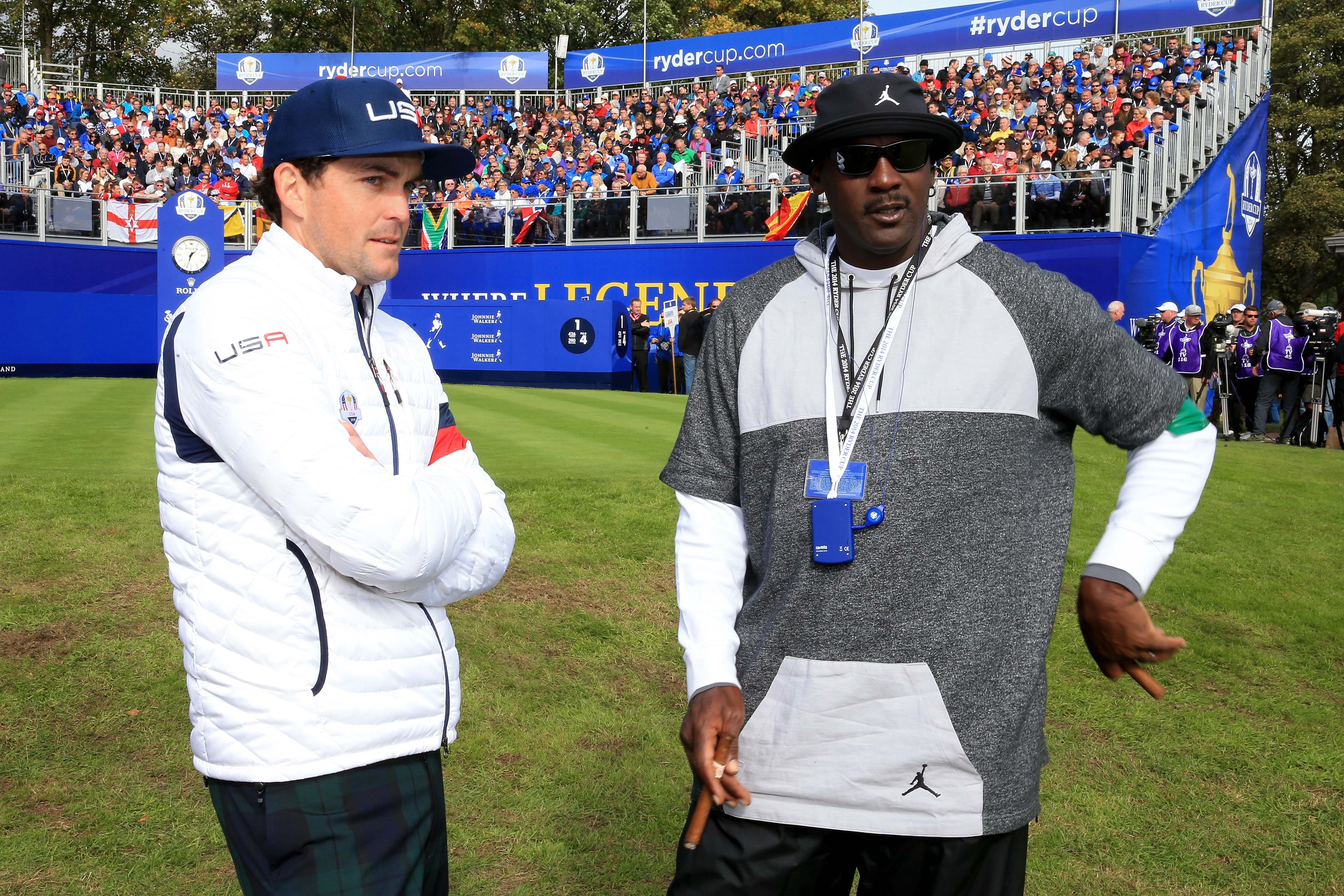 Michael Jordan and Keegan Bradley