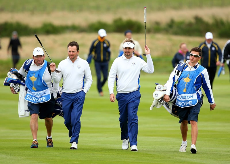 Graeme McDowell and Victor Dubuisson