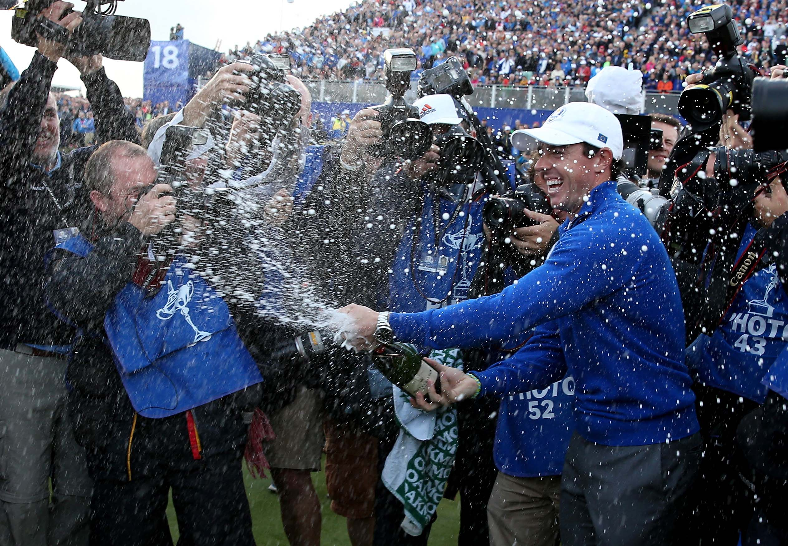 Rory McIlroy at the 2014 Ryder Cup