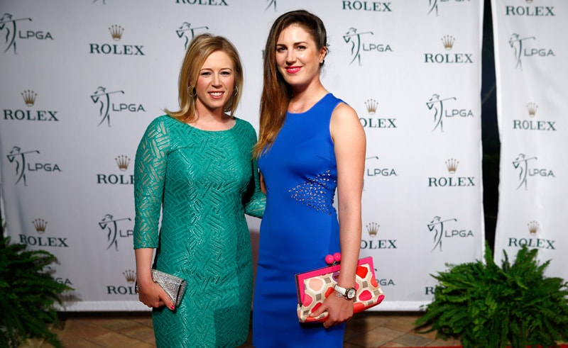 Morgan Pressel and Sandra Gal
