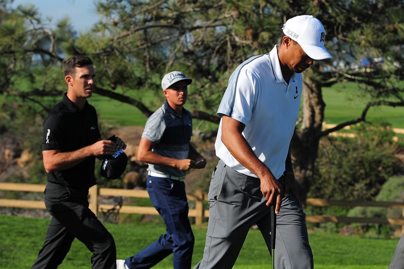 Billy Horschel, Rickie Fowler and Tiger Woods
