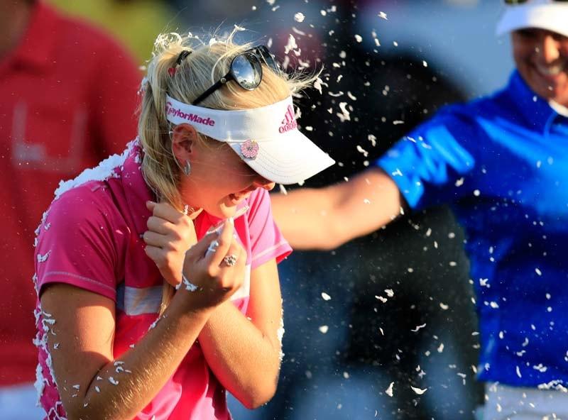 Jessica Korda after winning 2014 Pure Silk-Bahamas
