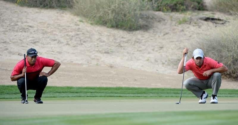 Tiger Woods and Pablo Larrazabal