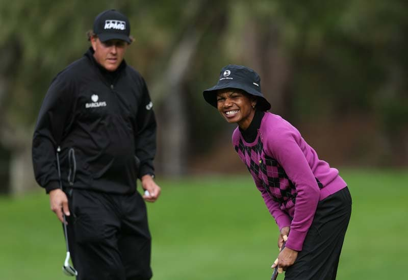 Phil Mickelson and Condoleezza Rice