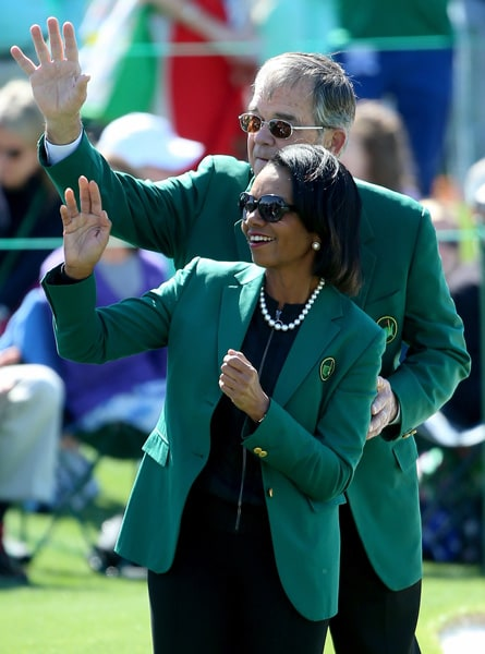 Condoleezza Rice and Billy Payne