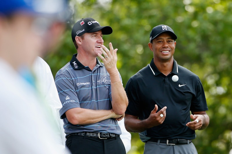 Jimmy Walker and Tiger Woods