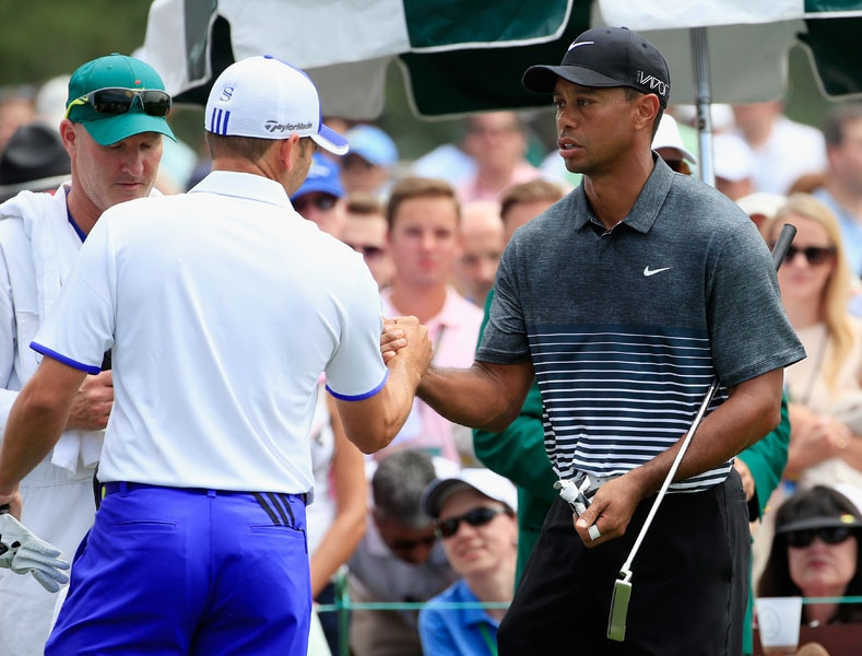 Sergio Garcia and Tiger Woods