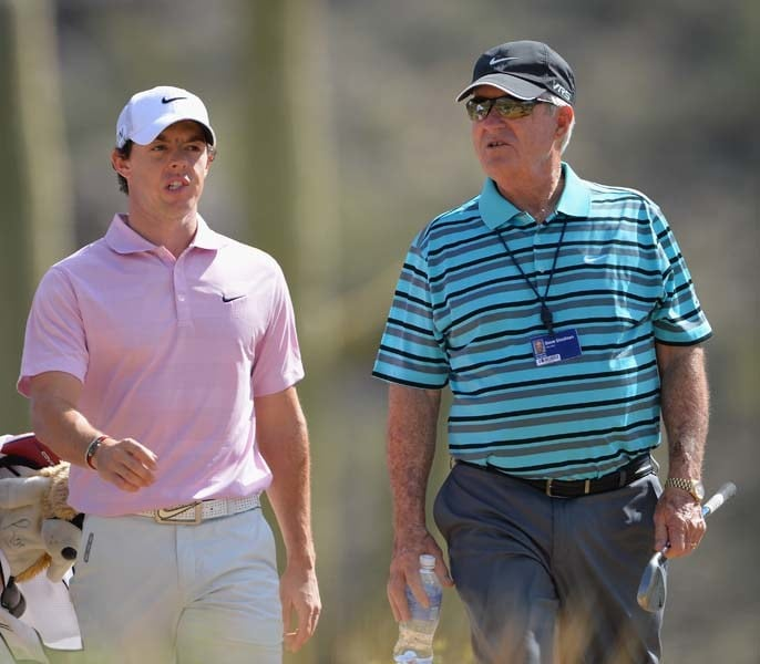 Rory McIlroy and Dave Stockton