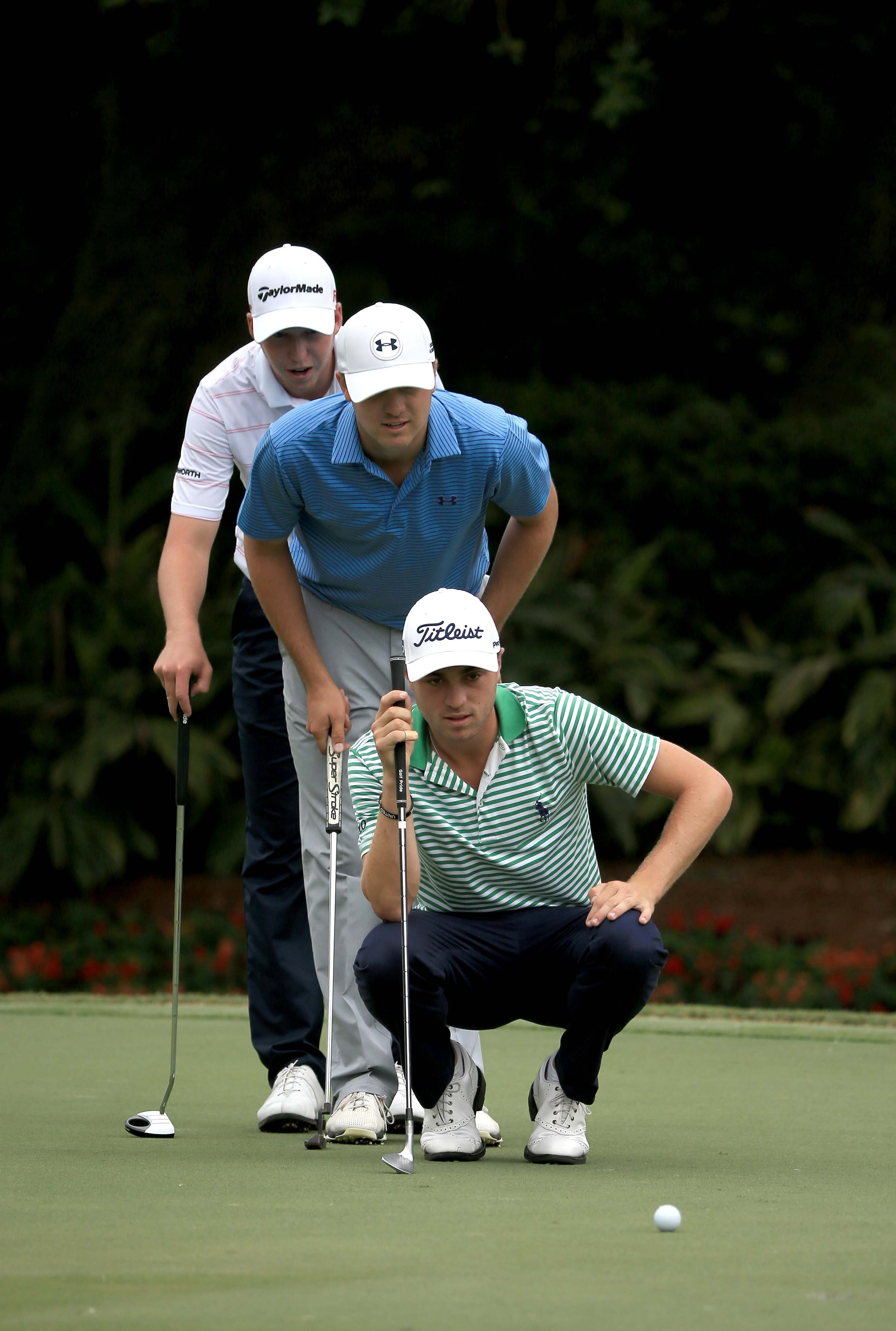 Justin Thomas, Jordan Spieth and Daniel Berger