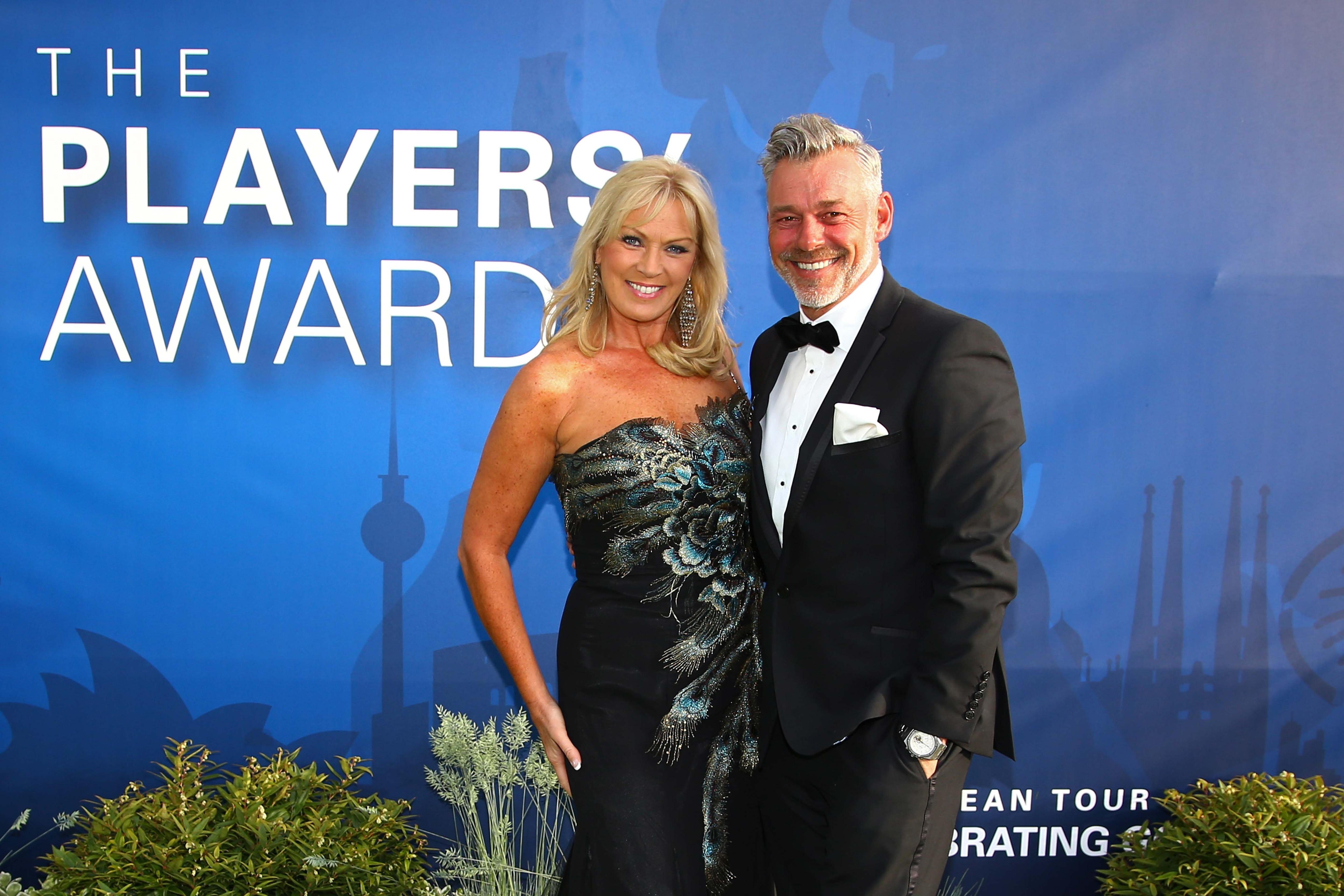Darren Clarke and his wife Alison