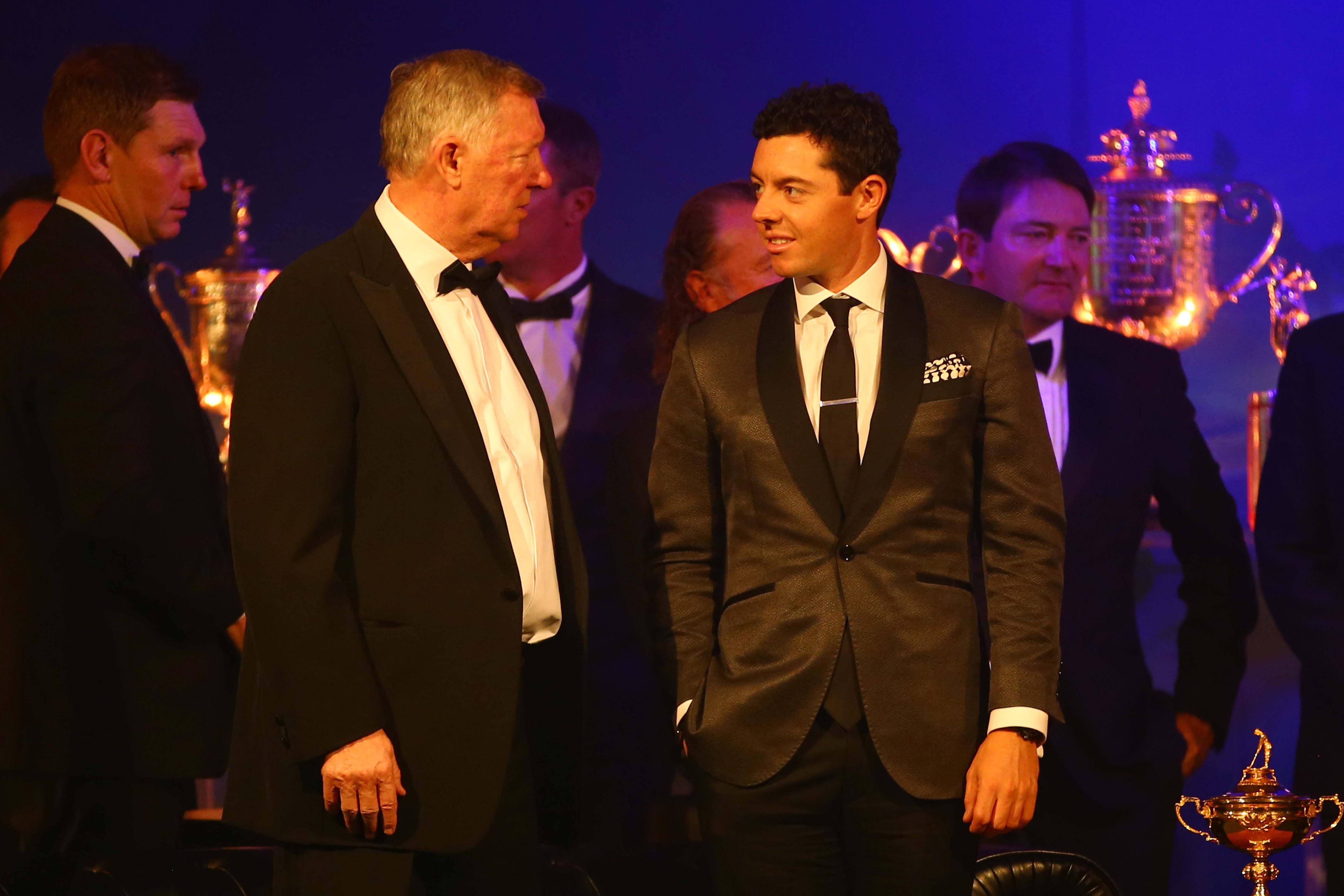 Sir Alex Ferguson and Rory McIlroy