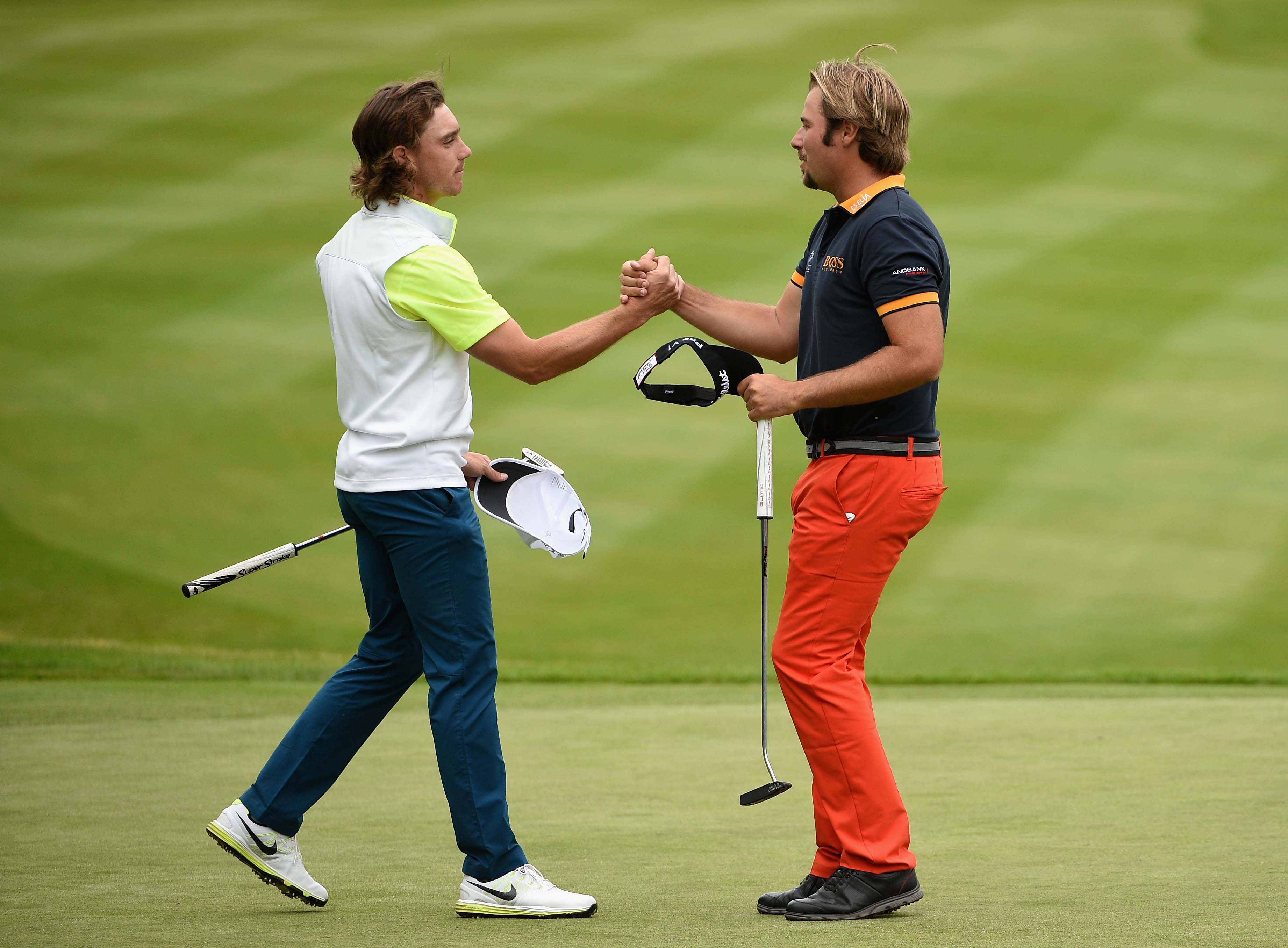 Tommy Fleetwood and Victor Dubuisson