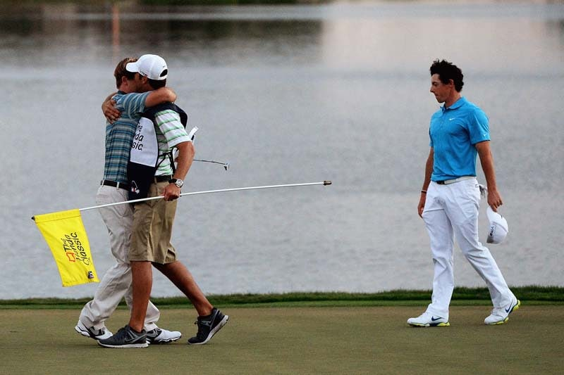 Russell Henley and Rory McIlroy