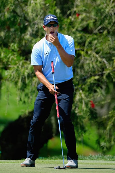 'Did I bean someone with that putt?'