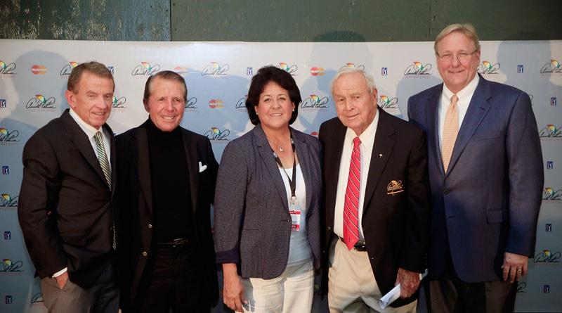 Tim Finchem, Gary Player, Nancy Lopez, Arnold Palmer, and Jack Peter,