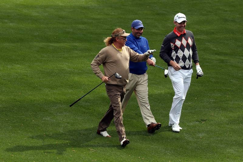 Miguel Angel Jimenez, Jose Maria Olazabal and Stephen Gallacher