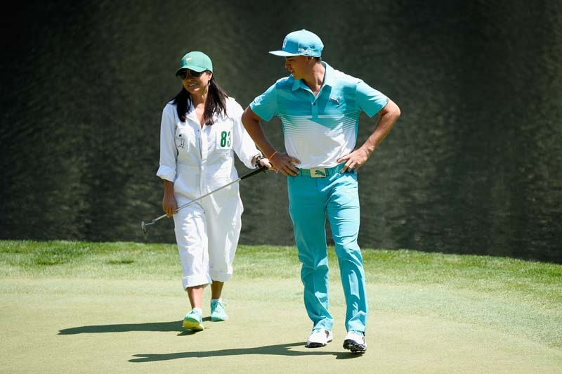 Rickie Fowler and his mother, Lynn