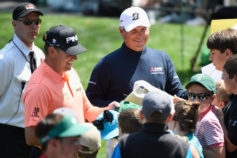 Lee Westwood and Fred Couples
