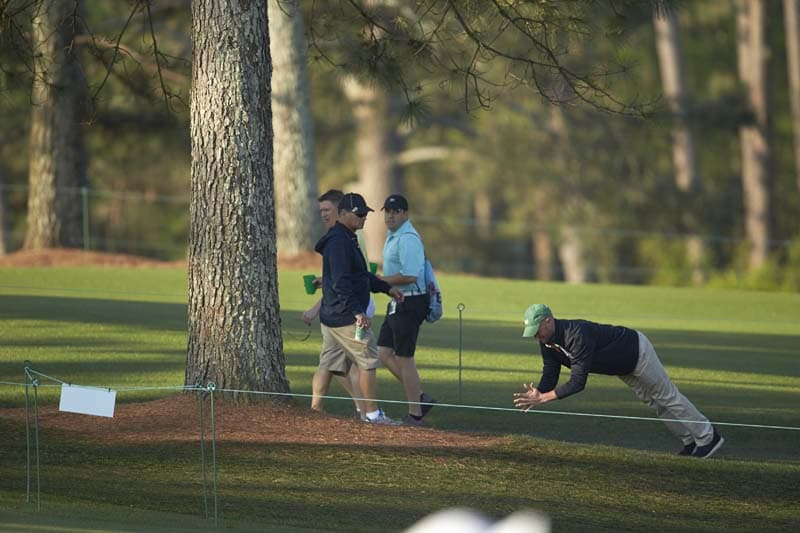 This is probably not allowed at Augusta ...
