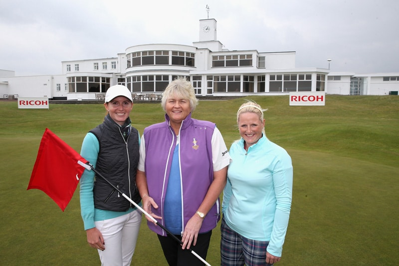 Florentyna Parker, Laura Davies and Holly Clyburn