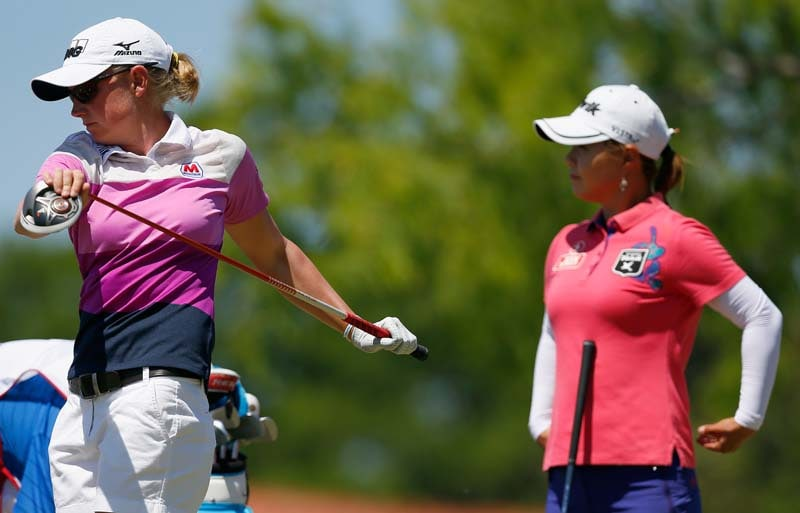 Stacy Lewis and Meena Lee