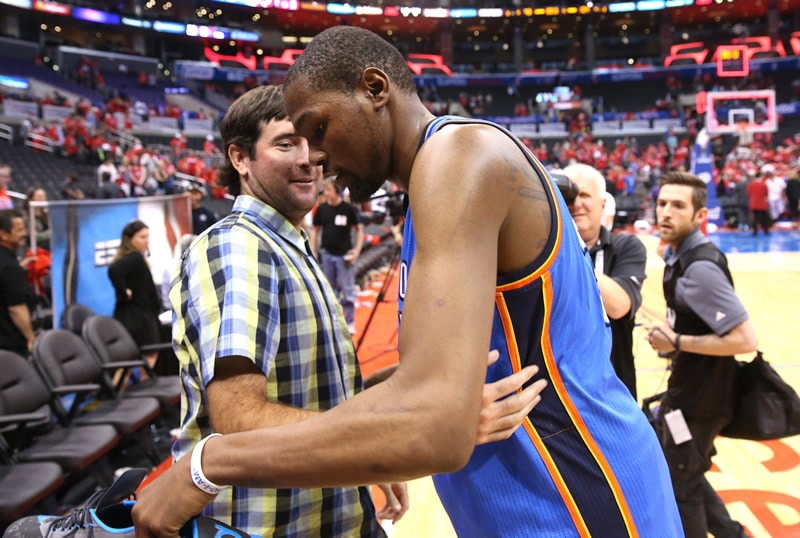 Bubba Watson and Kevin Durant
