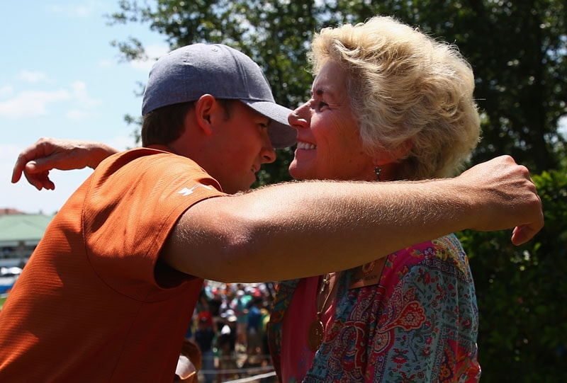 Jordan Spieth and Peggy Nelson