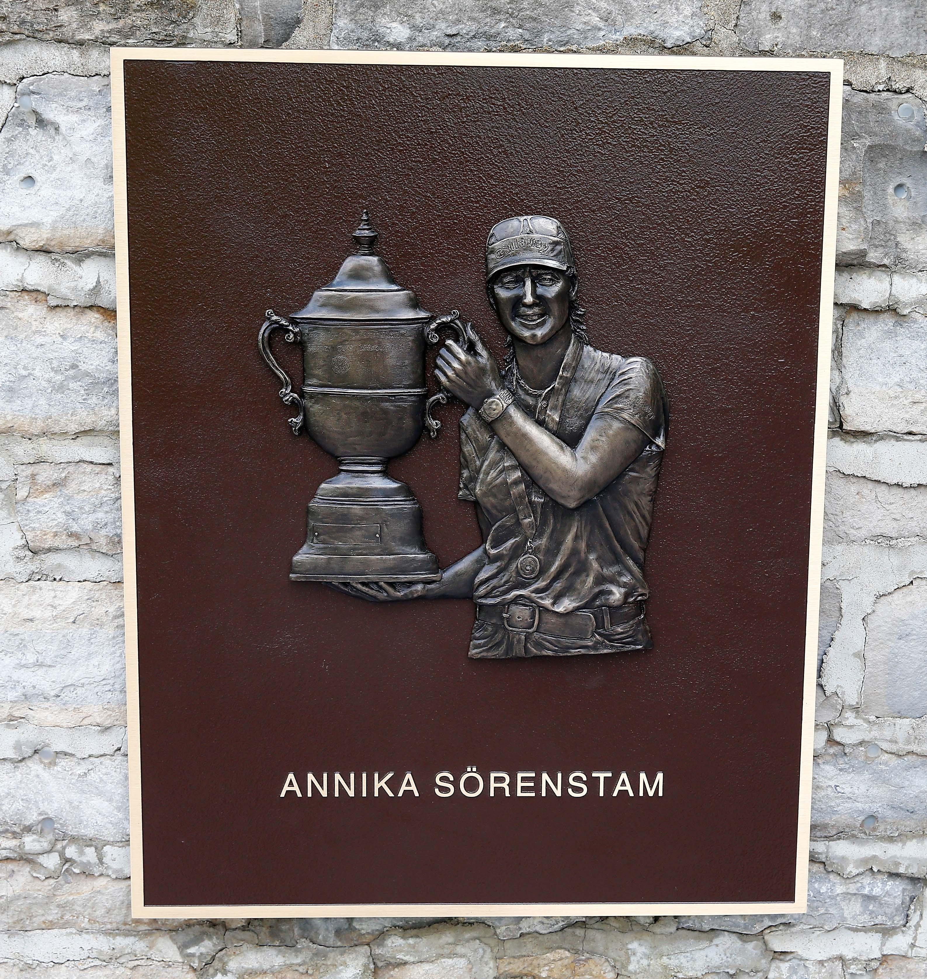 Annika Sorenstam plaque