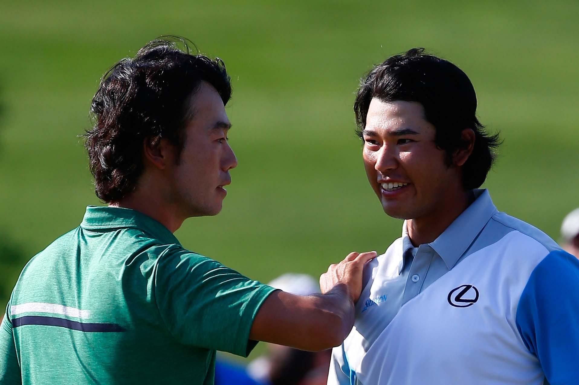 Hideki Matsuyama and Kevin Na