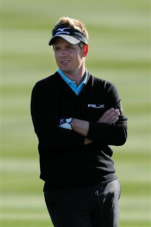 MARANA, AZ - FEBRUARY 23:  Luke Donald of England looks on from the second hole during the first round of the Accenture Match Play Championship at the Ritz-Carlton Golf Club on February 23, 2011 in Marana, Arizona.  (Photo by Stuart Franklin/Getty Images)