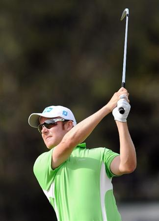 MELBOURNE, AUSTRALIA - NOVEMBER 27:  Mikko Ilonen of Finland plays a shot off the fairway during the first round of the 2008 Australian Masters at Huntingdale Golf Club on November 27, 2008 in Melbourne, Australia  (Photo by Robert Cianflone/Getty Images)